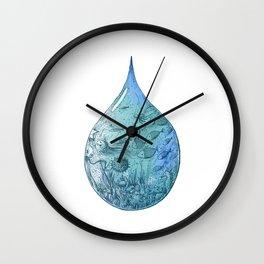 OCEAN DROP Wall Clock