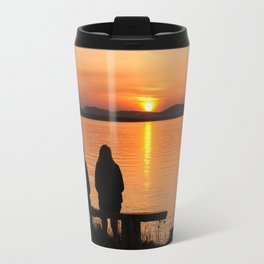 Sunset Fleuve St-Laurent Travel Mug