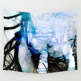 Winter Bridge Wall Tapestry