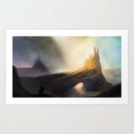 The Twin Fortresses Art Print