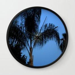 Moonlight through the Palms, Southern California Wall Clock
