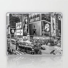 Times Square II (B&W widescreen) Laptop & iPad Skin