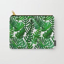 Round Palm Green Carry-All Pouch
