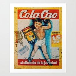 Vintage Cola Cao Art Print