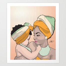 Chicks and Head Wraps 6 Art Print