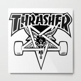 TRASHER LOGO Metal Print