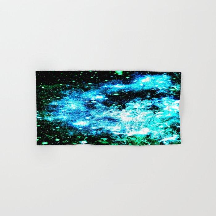 Chaotic Space :  gaLAxy Turquoise Aqua Gray Hand & Bath Towel
