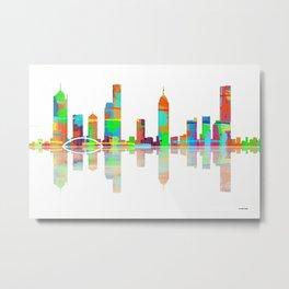 Melbourne Skyline 1 Metal Print