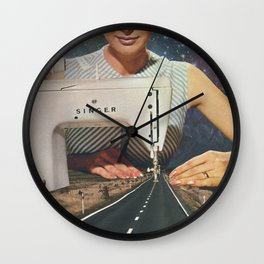 This is how a road gets made Wall Clock