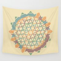 fractal Wall Tapestries featuring Fractal by Zach Terrell