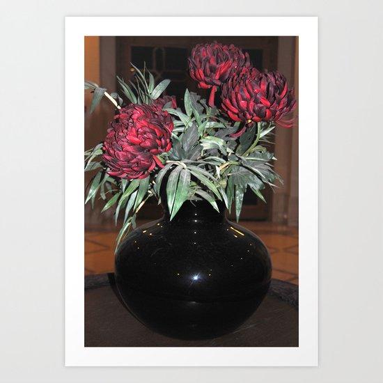 The black vase Art Print