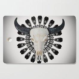 Bull Skull Mandala Cutting Board