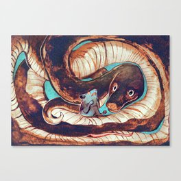 Sneaky Sweet Snake Canvas Print
