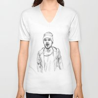 liam payne V-neck T-shirts featuring Liam Payne  by Cécile Pellerin