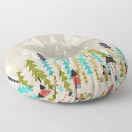 my happy mountains Floor Pillow