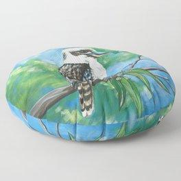 Kookaburra in a Gumtree Floor Pillow