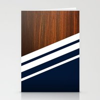 navy Stationery Cards featuring Wooden Navy by Nicklas Gustafsson