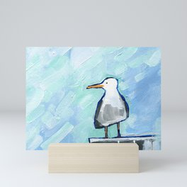 Skipper Seagull Mini Art Print