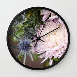 Dahlias in Bloom Wall Clock