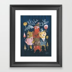 Now and Then Framed Art Print