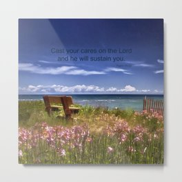 Cast Your Cares on the Lord Metal Print