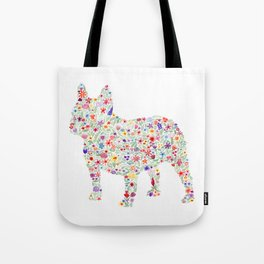 French Bulldog Floral Watercolor Tote Bag