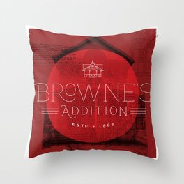 Browne's Addition Throw Pillow