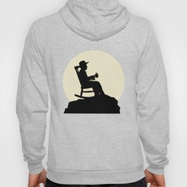 Fancy Grandfather And Moon Design Hoody