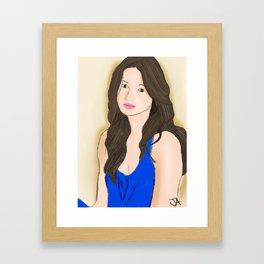 Crystal Reed Framed Art Print