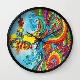 The Yellow Submarine Wall Clock