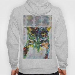 Mixed media Owl Hoody