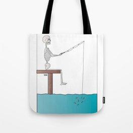 Fishing For Bones Tote Bag