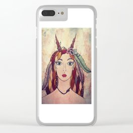 Lady of the Wood Clear iPhone Case