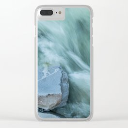 Marble River Run Clear iPhone Case