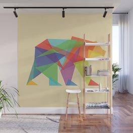 Fractal Geometric bear Wall Mural