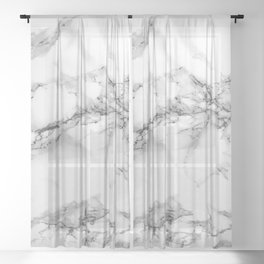 Marble - Gray Sheer Curtain
