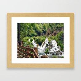 Roughlock Falls Framed Art Print