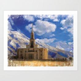 Payson Utah LDS Temple Art Print