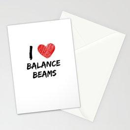 I Love Balance Beams Stationery Cards