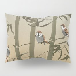 Sparrows And Bamboo Pillow Sham