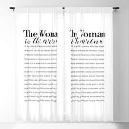 Daring Greatly Quote, Woman in the Arena - Inspirational Gift for Woman Entrepreneur Blackout Curtain
