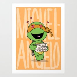 TMNT: Michelangelo (Cute & Dangerous) Art Print
