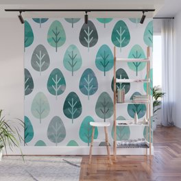 Watercolor Forest Pattern #6 Wall Mural