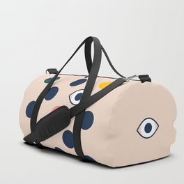 polka eye dot Duffle Bag