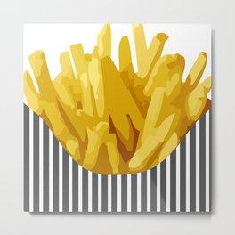 Chips Metal Print