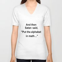 math V-neck T-shirts featuring Math by Lyre Aloise