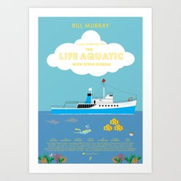 The Life Aquatic with Steve Zissou Movie Poster Art Print