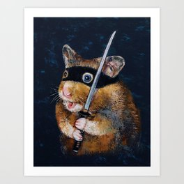 Ninja Hamster Art Print