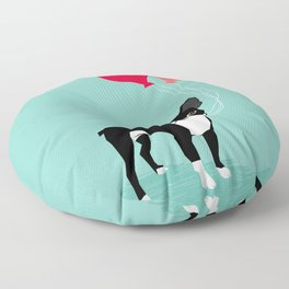 Boston Terrier Valentine heart balloons for pet owners and dog lovers gift for someone they love Floor Pillow