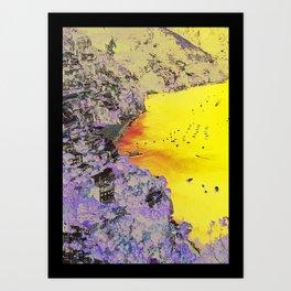 AMALFI COASTLINE Art Print